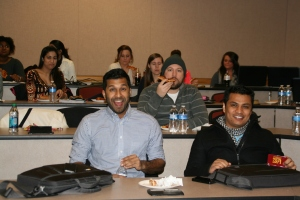UCSOP students have a little fun as they gather to hear speakers from UC, WVU, and MU