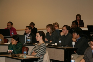 Pharmacy students listen intently to find out about their role in Pharmacists' Day at the WV Legislature.