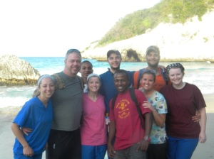 The group at the beach in Haiti
