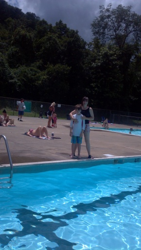 Dr. Anne Teichman and her family enjoy spending time at the Kanawha City Pool, which is not far from the UC campus.