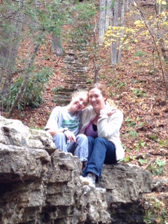 Hannah Hutchinson and her daughter hiking near Beckley, WV
