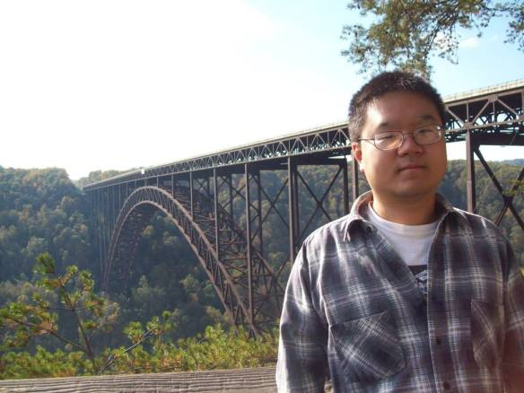 P2 student Eric Tong at the New River Gorge Bridge.