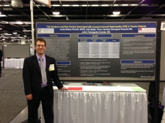 P4 John Muller presenting his poster at Midyear