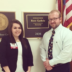 Katie Oliver and Brian Hancock on Capitol Hill