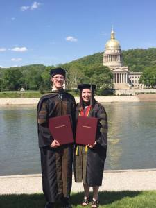 Joseph and Allison Williams at graduation in May 2015.