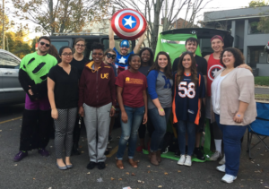 CPFI & ACCP Students at the Trunk-or-Treat event.
