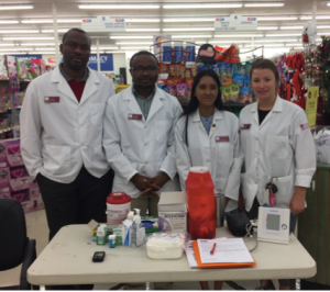 AAPS & NCPA Students at Fruth at Oakwood Road's store hosting their health fair!