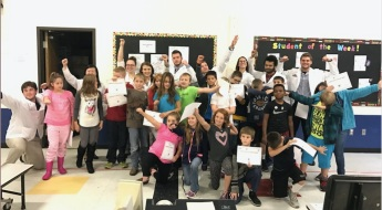 UCSOP Class of 2020 students celebrate safe medication use with 5th grade students!