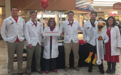 UCSOP students and faculty at the Charleston Town Center Mall Macy's hosting a Script Your Future event